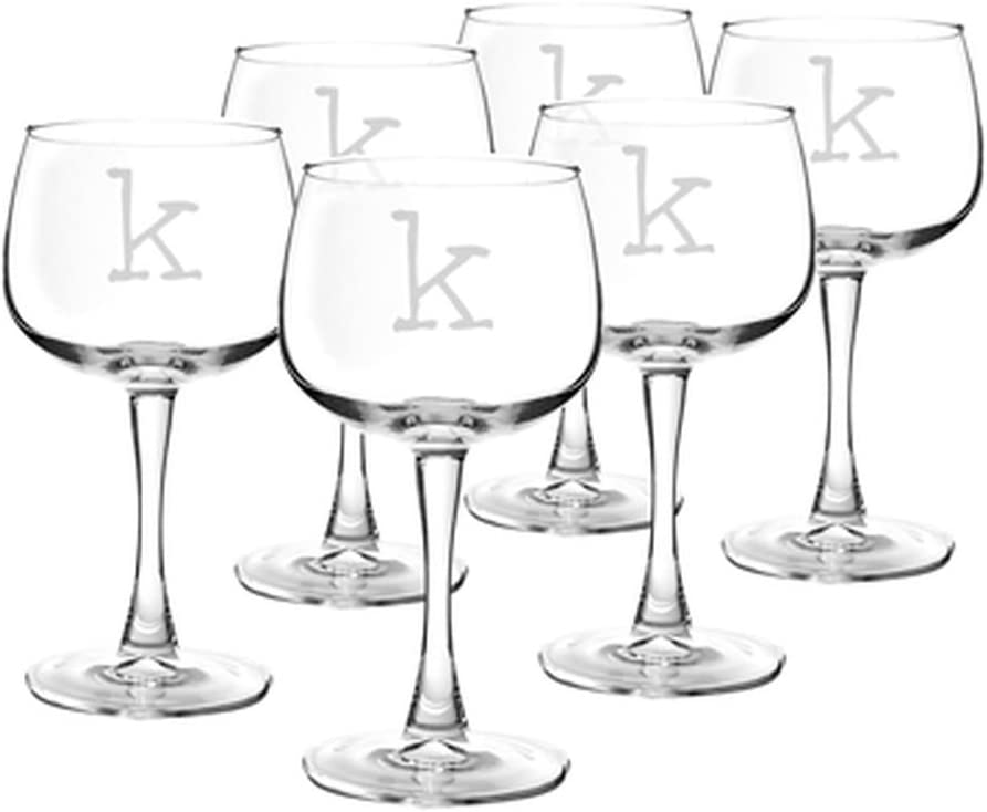 Personalized Indianapolis Mall 13 oz. Red Direct sale of manufacturer Wine Set 6 Glasses