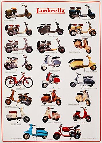 Poster Lambretta Storiche - Ed. Sigem