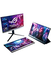 ASUS ROG XG17AHPE przenośny monitor gamingowy o przekątnej 43,94 cm (17,3 cala), Full HD, 240 Hz, wbudowany akumulator, adaptacyjna synchronizacja, USB-C, Micro-HDMI)
