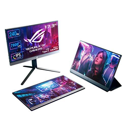 ASUS ROG XG17AHPE 43,94 cm (17,3 Zoll) tragbarer Gaming Monitor (Full HD, 240Hz, integrierter Akku, Adaptive-Sync, USB-C, Micro-HDMI)