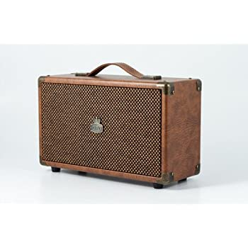 RCA Input Bluetooth with Retro Grille and Carry Handle GPO Westwood Retro 25 Watt Speaker with Subwoofer Blue
