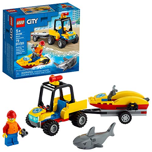 LEGO City Beach Rescue ATV 60286 Building Kit; Fun Cool Toy for Kids, New 2021 (79 Pieces)