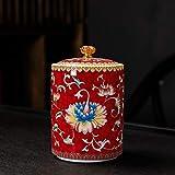 YYCHJU Contenedor de Almacenamiento de Té Frascos para Exquisito Exquisito cerámica Portátil Portáil Sello Universal Tea Pot Bote de Almacenamiento (Color : Dark Khaki)
