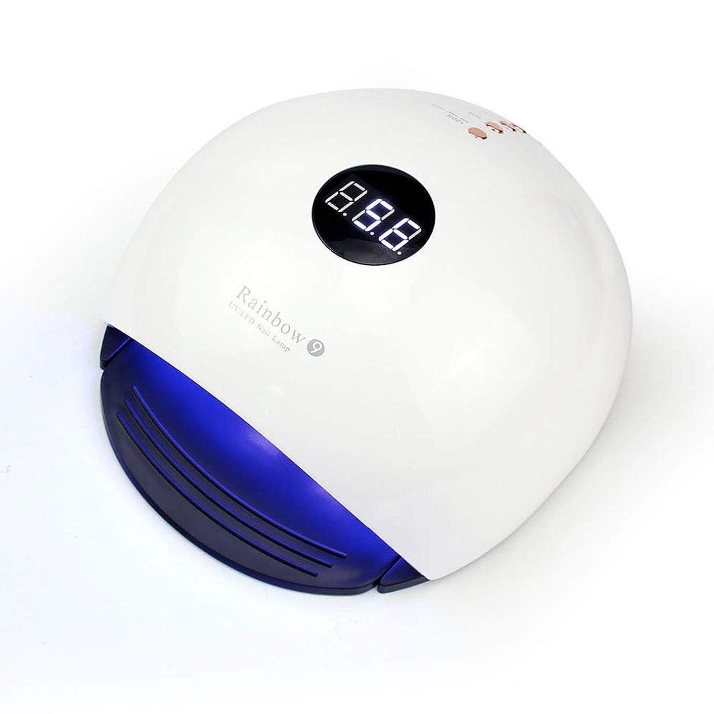 アーサーコナンドイル苦行弱いスマートなランプ機能、30秒/ 60秒の時間設定および99秒の低熱のゲルのマニキュアのシェラックのための48WネイルドライヤーUV LEDランプ