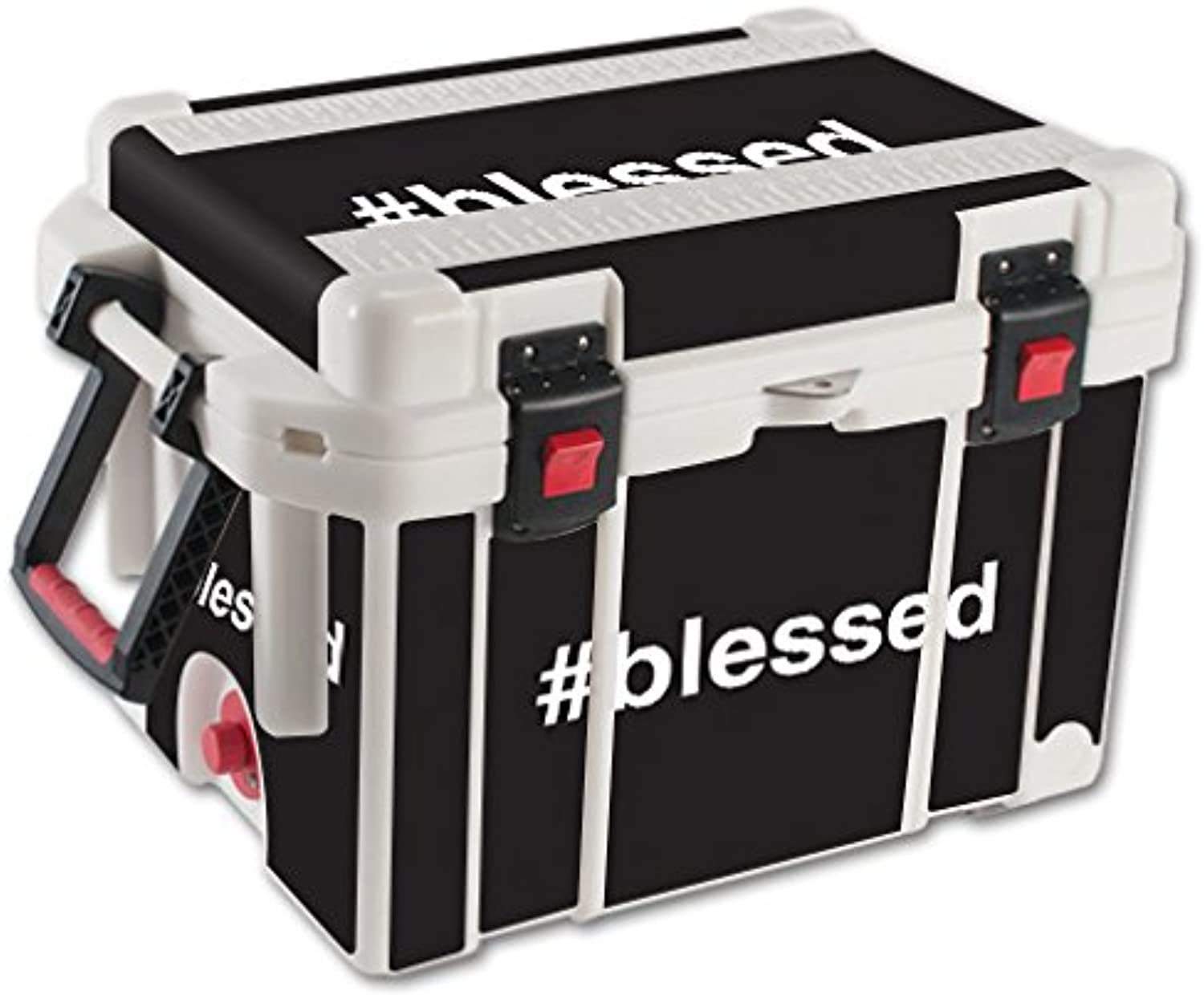 MightySkins Skin Compatible with Pelican 45 qt Cooler – Blessed   Predective, Durable, and Unique Vinyl Decal wrap Cover   Easy to Apply, Remove, and Change Styles   Made in The USA