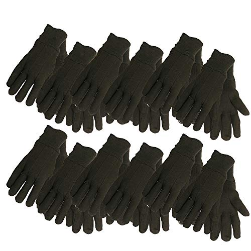 Cotton Jersey Work Gloves , 7792P12, Size: Large, Brown, 12-Pack