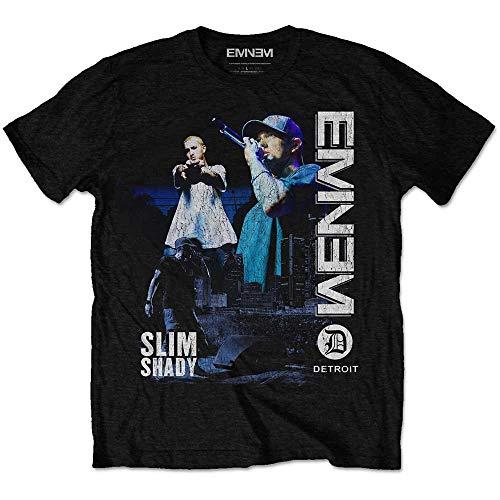 Eminem Herren T-Shirt Schwarz Schwarz Large Gr. M, Schwarz