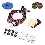 True Realism Navigation Lights 8 LED Light System Kit for RC Remote Control Airplane Helicopter
