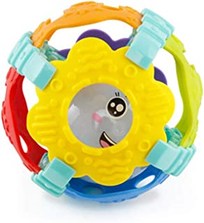 Anniston Kids Toys, Colorful Babies Soft Hand Grab Rattle Ball Sound Light Educational Teething Toy Baby Toys Perfect Fun ...