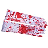 TomaiBaby Suministros de Fiesta de Halloween 1 par de Guantes sangrientos Halloween Terror Gloves Cosplay Blood Gloves for Decor