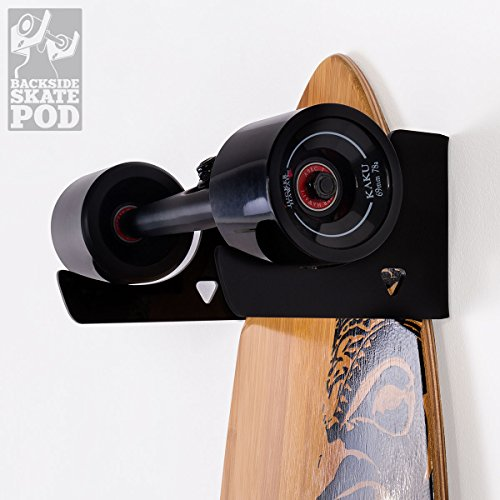 WANDKINGS Skateboard Wandhalterung - Backside Variante - Wähle eine Farbe - Schwarz matt