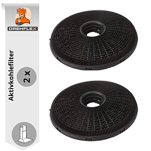 DREHFLEX - AK54-2 -Kohlefilter/Aktivkohlefilter für diverse Dunstabzugshauben von AEG/Electrolux für Teile-Nr. 902979370-1/9029793701 E3CFP19 auch für Bosch/Siemens 00796390/796390(alte Bauform)