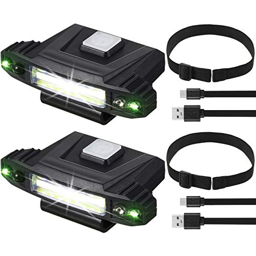 2 Pieces Ultra Bright Mini LED Clip on Cap Light