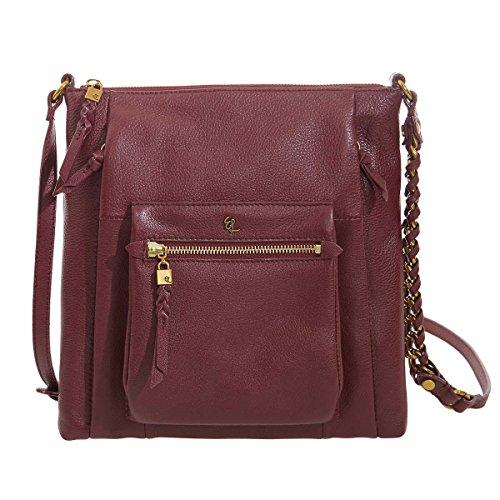 Elliott Lucca Gwen Leather Crossbody Handbag - Cabernet
