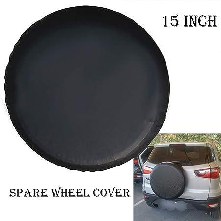 Housse de roue de secours noire pour auto voiture 4x4 caravane camping car utilitaire pour taille 195//55R17