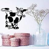 wanmeidp Dessin animé Vache Animal Motif Stickers Muraux pour Chambre d'enfants Pépinière Salle De Jeux Vinyle Stickers Muraux Enfants Chambre Art Affiche 1 50X42 cm