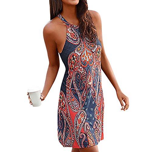 Vestidos Cortos Mujer Sexy, Vestido de Playa de Verano Mujer Mini Vestido Casual...