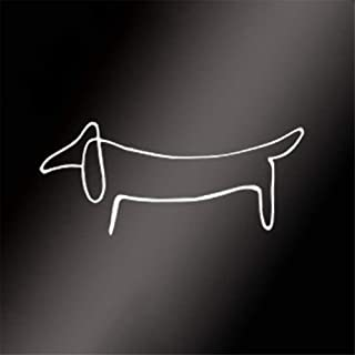 Wall Stickers Art Decor Vinyl Peel and Stick Mural Removable Decals Dachshund Weiner Dog Decal Car Window Picasso Love My Sticker Decor