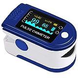 VPOW Pulsossimetro, ossimetro da Dito misuratore di saturazione di Ossigeno Misuratore di...