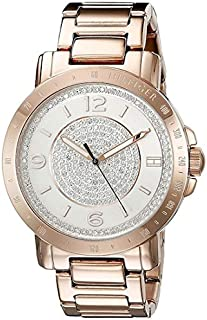 ساعة ليف للنساء بمينا ابيض وسوار من الستانلس ستيل من تومي هيلفيجر - موديل 1781625