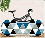 ASADVE Funda Bici Rueda De Bicicleta Bicicletas Montaña Fundas Patrón Retro Triángulo Geometría Serie Bicicleta De Montaña Ropa De Coche Cubierta De Polvo Cubierta Elástica Cubierta De Polvo