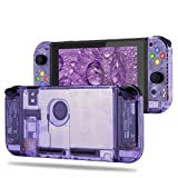 BASSTOP [Update Version] DIY Replacement Housing Shell Case Set for Switch NS NX Console and Right Left Switch Joy-Con Controller Without Electronics(Set-Atomic Purple)