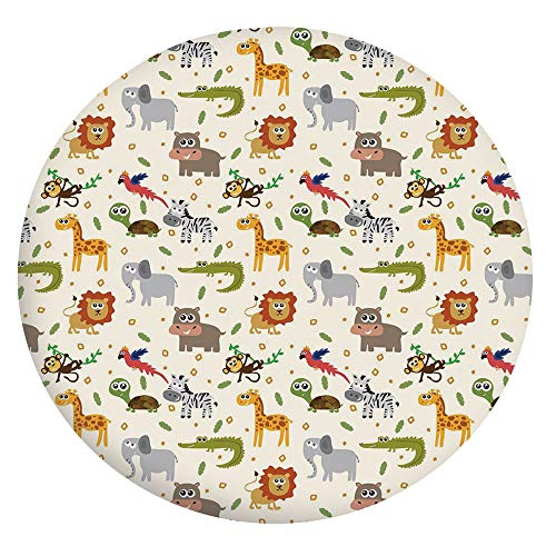 Mantel ajustable de poliéster con bordes elásticos, ideal para mesas redondas de 142 a 152 cm, para decoración de mesa de cocina o comedor