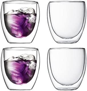 Bodum Pavina Double-wall Insulated 8.5-ounce Glasses, Set of 4