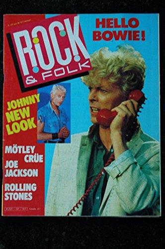 ROCK & FOLK 231 JUIN 1986 COVER David Bowie Johnny Hallyday Motley Crue Joe Jackson Rolling Stones