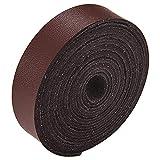 GORGECRAFT Correa de cuero de 3/5 pulgadas de ancho 78 pulgadas de largo de microfibra de imitación plana de cuero trenzado cuerda para manualidades, taller de herramientas hecho a mano, café