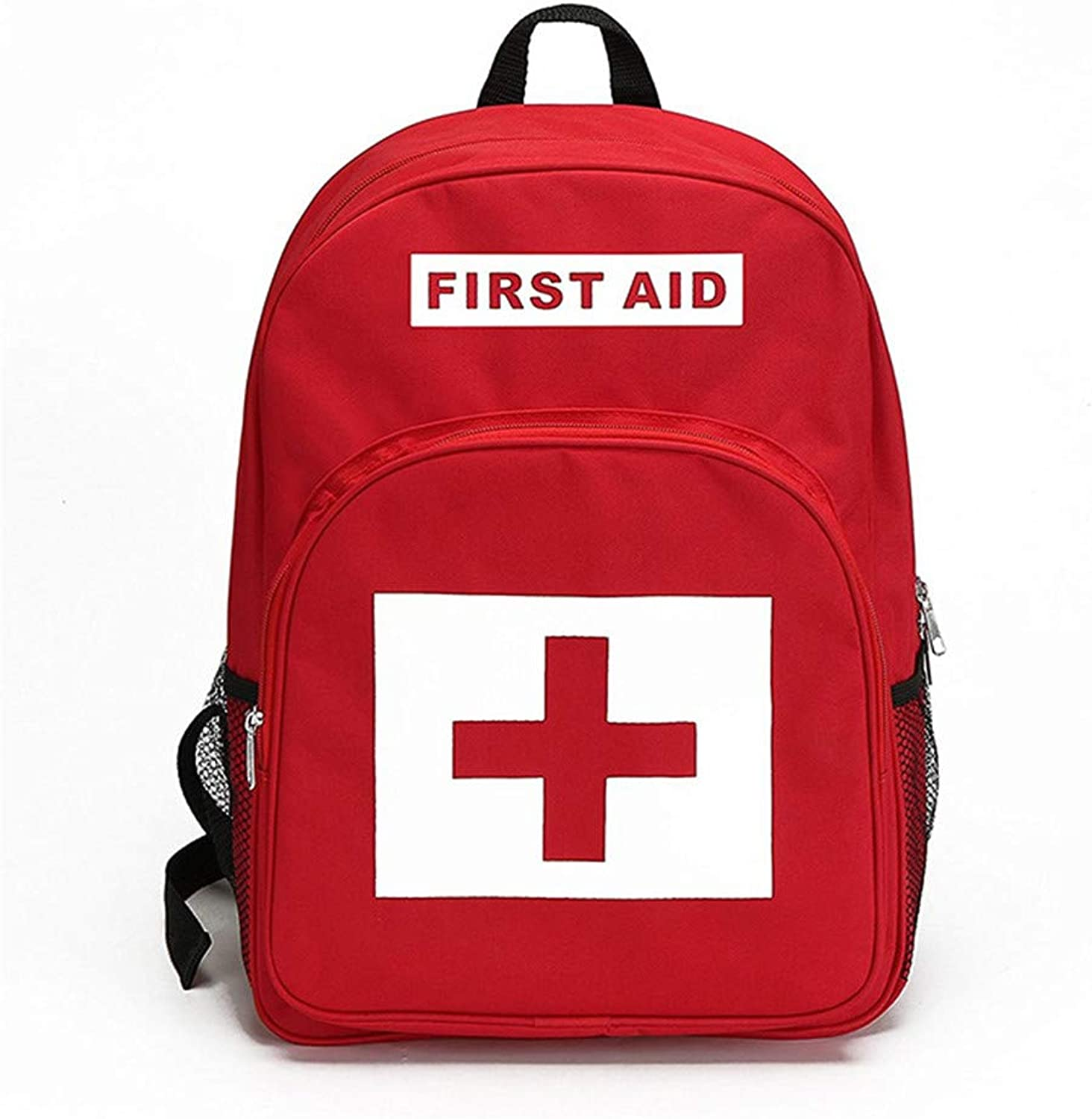 First Aid Bag, Red Backpack, Emergency Treatment,Portable for Outdoor School Travel Camping Hiking Climb Skiing