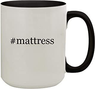 #mattress - 15oz Hashtag Colored Inner & Handle Ceramic Coffee Mug, Black
