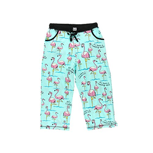 It's Been A Looong Day Flamingos Women's Capri Pajama Pant BOTTOMS by LazyOne |