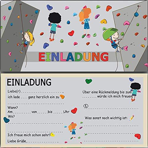 Einladung zum Geburtstag Kindergeburtstag Klettern bouldern Kletterhalle Einladungskarten Klettergeburtstag Jungen Mädchen Kinder Karten Einladungen kletterpark