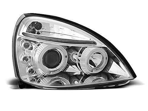 1 paar koplampen Clio 2 01-05 Angel Eyes chroom (E13)