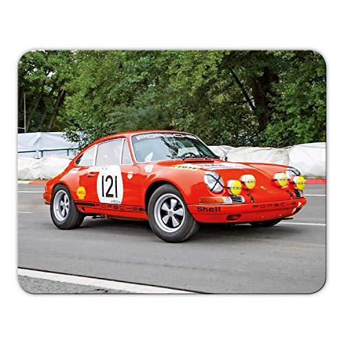 Addies Mousepad 'Porsche' schönes Mauspad Motiv in feiner Cellophan Geschenk-Verpackung mit Kautschuk Untermaterial, 24x19cm - MP14