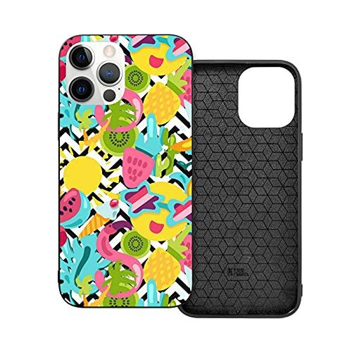 Carcasa rígida para iPhone 12, a prueba de golpes, PC+Tpu parachoques a prueba de arañazos, diseño de flamenco, hoja de piña, fundas de teléfono para iPhone 12/12 Pro/12 Mini/12 Pro Max