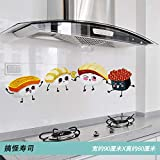 Stove kitchen oil proof sticker wall stickers tile wall transparent decoration layout cartoon...