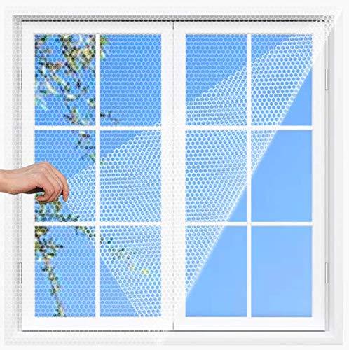 FGen 2 Pcs Mosquitera para ventana, Malla Contra Insectos Mosquitera, mosquitera de malla para Mosquitos, Mosquiteros Estándar Para Ventanas y Puertas, Blanco Anti Mosquito Malla Protector Kit (B)