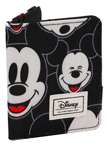 Disney Classic Mickey Visages Münzbörse, 11 cm, Schwarz (Negro)
