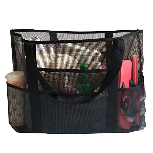EXTSUD Extra Große Reisetasche Strandtasche Sand Spielzeug Aufbewahrungstasche Faltbare Handtaschen Netztasche Picknicktaschen für den Sommer Strand Shopping für Familie Urlaub 70x45x18cm