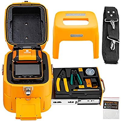 Mophorn AI-9 Fiber Fusion Splicer with 5 Seconds Splicing Time Melting 15 Seconds Heating 7800mah Fusion Splicer Machine Optical Fiber Cleaver Kit for Optical Fiber & Cable Projects