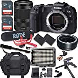 Canon EOS RP Mirrorless Digital Camera with RF 24-240mm Lens Kit + Mount Adapter + Video Accessory Bundle with Rode Video Go Mic, 128GB Memory, LED Light & More