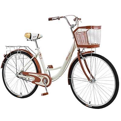 "26"" High-Carbon Mountain Bike Cruiser Bike Classic Bicycle Retro Bicycle Beach Cruiser Bicycle Trail Bike MTB Bike for Women"