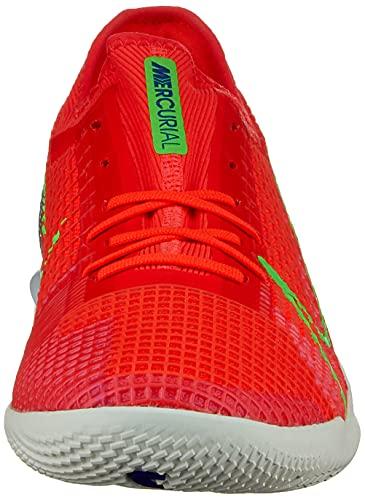 Nike Zoom Vapor 14 Pro IC, Football Shoe Hombre, Bright Crimson/Metallic Silver-Indigo Burst-White-Rage Green, 42 EU