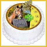 MSDeko Tortenaufleger Geburtstag Pferd, Tortendeko
