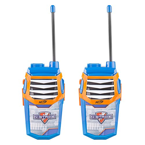 NERF Nerf Night Action Walkie Talkies WT3-01056 | NERF Kids Toys, Large Speaker, Built-In LED Flashlight, Rugged Outside Toys for Kids, Stylish Appearance, Pack of 2 (Blue)