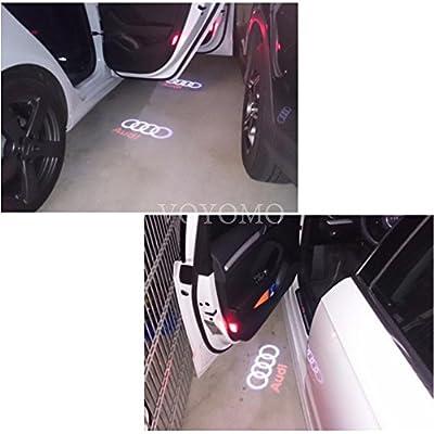Voyomo 2 pieces car door entry light projection logo door entry lighting