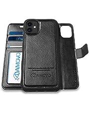 AMOVO iPhone 11 ケース 手帳型 分離式 マグネット 取り外し自由 ワイヤレス充電に対応 カード収納 横開き スタンド機能 アイフォン 11 手帳カバー