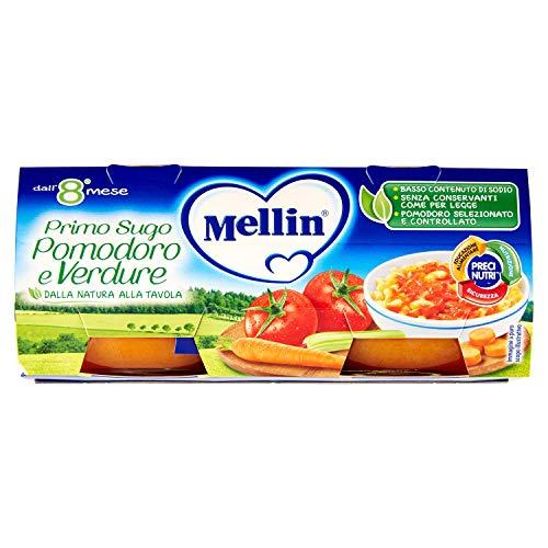 Mellin - PRIMOSUGO POMODORO E VERDURE X2 - 160 GR